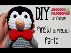 DIY Pingüi (El pingüino) Parte 1 amigurumi crochet/ganchillo (tutorial) - YouTube