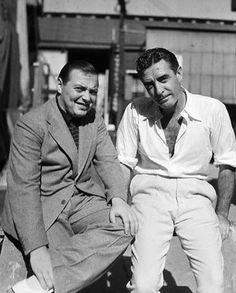 Classic actors Peter Lorre and John Gilbert.