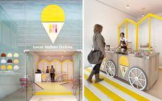 Cómo decorar una heladería. #Decoración #Comercios #Ideas