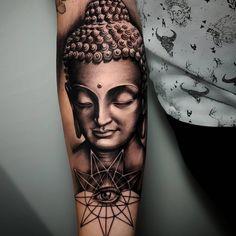 A pristine black and grey Buddha by Poly Tayyip (IG—poly_tattoo). dessins de tatouage 2019 dessins de tatouage 2019 A pristine black and grey Buddha by Poly Tayyip (IG—poly_tattoo). Buddha Tattoo Design, Buddha Tattoos, Small Tribal Tattoos, African Tribal Tattoos, Trendy Tattoos, Black Tattoos, Blue Tattoo, Tattoo Ink, Body Art Tattoos