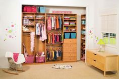 Good open room concept for kids to access and put their things away. Keep things within reach for them. Children's Closet - traditional - Closet
