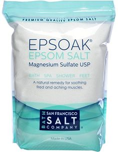 Epsoak Epsom Salt 19.75 Lbs - 100% Pure Magnesium Sulfate, Made in USA, 2016 Amazon Top Rated Bath & Shower  #Beauty