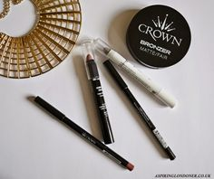 Aspiring Londoner reviews our new Crownbrush Make-up Line including eye liner, bronzer and chubby lip pencil.