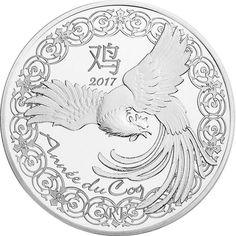 10 EURO SILBER LUNAR HAHN PP