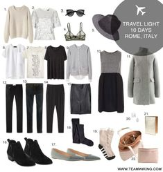 How to pack for Italy - 10 days in just a carry-on! Includes packing list and outfits. Also find packing lists for other destinations. - Reise Tipps - How to pack for Italy – 10 days in just a carry-on! Includes packing list and outfits. Also find - Travel Capsule, Travel Wear, Travel Style, Travel Outfits, Travel Packing, Smart Packing, Travel Tips, Suitcase Packing, Travel Backpack