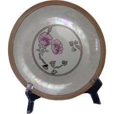"Hutschenreuther Selb Bavaria Buchanan Studio Indianapolis Arts & Crafts Floral Motif Plate (Signed ""E.E.G.""/c.1910-1940)"