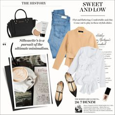 Sweet and low by amaryllis on Polyvore featuring moda, Donna Karan, AG Adriano Goldschmied, Jimmy Choo, MICHAEL Michael Kors, lilah b., JINsoon and Prada