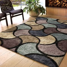 Carolina Weavers Comfy and Cozy Shag Scene Collection Virtual Reality Multi Shag Area Rug x ft 3 in x 7 ft 6 in), Beige, Size x (Polypropylene, Geometric) Area Rugs Cheap, Cheap Rugs, 8x10 Area Rugs, Blue Area Rugs, Geometric Rug, Natural Rug, Large Rugs, Home Decor Outlet, Online Home Decor Stores