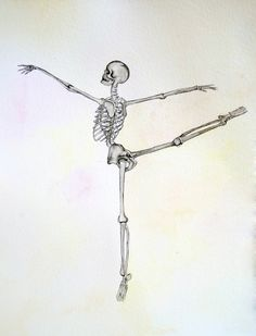 Ballet, ballerina skeleton, anatomy art, dance, watercolor painting, skeleton, anatomy, art, painting, drawing, pictu