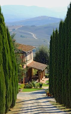Val d'orcia, Siena, Tuscany-Italy. http://weathertightroofinginc.com #rooftile #decorativerooftile #rooftiles