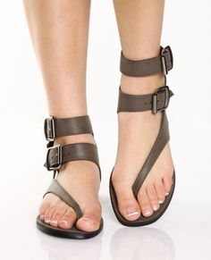 GoMax Grecian 01 Taupe Brown Double Strap Gladiator Thongs