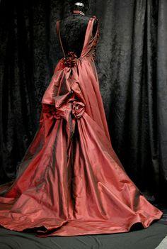 Red Wedding Dress Dramatic Wedding Dress Silk by BellaVittoria