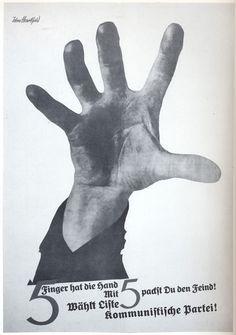 John Heartfield 5 Fingers Has The Hand (1928)