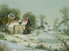 La Ferme sous la neige von Albert Drachkovitch