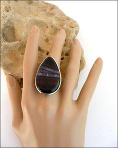 Bague - Superbe Agate noire, striée Quartz mauve - Ajustable - ring, anillo : Bague par ladyplazza Mauve, Gemstone Rings, Gemstones, Etsy, Jewelry, Ring, Handmade, Unique Jewelry, Schmuck