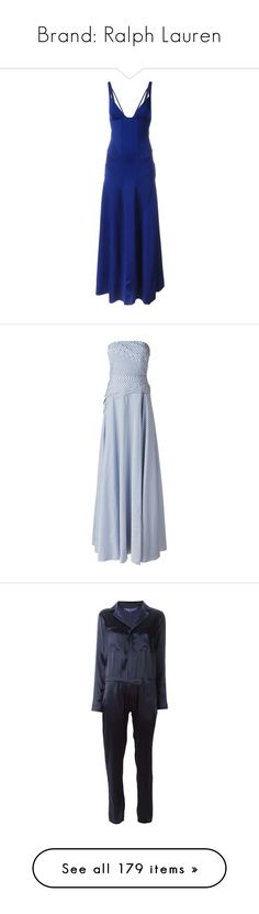 """Brand: Ralph Lauren"" by ahmady ❤ liked on Polyvore featuring dresses, blue, blue dress, lauren ralph lauren dresses, ralph lauren cocktail dresses, cobalt blue dress, cobalt blue cocktail dress, gowns, print dress and blue evening gown"