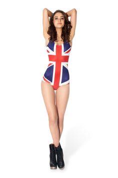 Union Jack Print Bodycon Sleeveless One-piece Swimwear Black Milk Clothing, Flags Of The World, Black Swimsuit, Union Jack, One Piece Swimwear, Autumn Inspiration, British Style, Swimsuits, Bikinis