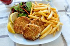 Fries with Potato Cutlets