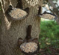 Shovel Bird Feeder | Iron Platform Bird Feeder
