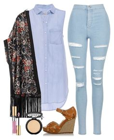 """""""⚽️⚾️"""" by a-good-old-southern-belle ❤ liked on Polyvore featuring Topshop, Rails, WithChic, Michael Kors, LORAC and Yves Saint Laurent"""