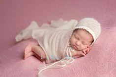 Newborn Mohair Wrap Set, Newborn photo Prop, Mohair & Silk Wrap, Natural Photo Props, Newborn Bonnet Set, Newborn Girl Set, Baby Bonnet