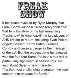 Ready For AHS-Freak show!