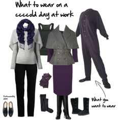 """""""What to wear on a ccccold day at work"""" by professionality on Polyvore"""