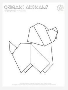 Origami Puppy Coloring Page - We don't know of many printable coloring pages more amazing than this puppy.