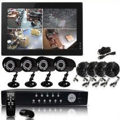 Q1C1 High End Internet & 3G Phone Accessibe 4 CH Channel CCTV Surveillance Security DVR 4x IR Night Vision Camera System Kit No Hard Drive Installed, (Monitor not Included) by Q1C1. $299.00. NO Hard Drive Installed  What's Included in the Package: 4-Channel High Quality H.264 DVR Internet and 3G Mobile Phone access (IPhone, Blackberry, Android, Nokia Symbian, Windows Mobile) 4 x weather-proof CCD night vision cameras 1 x DVR 2-Amp power adapter 1 x Camera power supply for 4 ca...