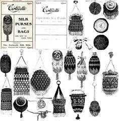 Victorian Beaded Purse Pattern Book 1900 Purses Bags for sale online Vintage Purses, Vintage Bags, Vintage Handbags, Diy Vintage Purse, Vintage Shoes, Bag Men, Beaded Purses, Beaded Bags, Novelty Bags