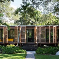 Brillhart House: Project: Brillhart House Architect: Brillhart Architecture Project Location: Miami, Florida Project Date: 2014This modest house answers to going back to basics in form and vernacular style, with taking principles of Tropical Modernism. For example, in order to minimize material waste, the architect chose steel and glass rather than the expected concrete structure. To respond to the climate, this house is enveloped in all sides with high insulation glass to keep the inside…
