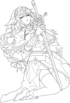 Ruler) Lineart by CerberusYuri on DeviantArt Adult Coloring Book Pages, Cute Coloring Pages, Coloring Books, Manga Coloring Book, Lineart Anime, Desenhos League Of Legends, Character Art, Character Design, Wie Zeichnet Man Manga