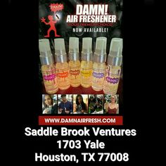 Just added! You can now pick up all your favorite Damn Air Freshener scents here at Saddle Brook Ventures.  #damnsoldhere #houston