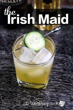 The Irish Maid: The Perfect St. Patrick's Day Cocktail The Irish Maid: The Perfect St. Patrick's Day Cocktail. This festive Whiskey drink is perfect for a crowd at your next Saint patrick's Day Party! Get the Recipe here! Irish Cocktails, St Patrick's Day Cocktails, Whiskey Cocktails, Cocktail Drinks, Cocktail Recipes, Alcoholic Drinks, Jameson Whiskey Drinks, Beverages, Jameson Irish Whiskey