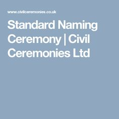 Standard Naming Ceremony | Civil Ceremonies Ltd