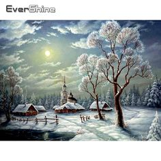 Merry Christmas Gif, Merry Christmas Pictures, Christmas Scenery, Winter Scenery, Vintage Christmas Cards, Christmas Art, Winter Christmas, Xmas, Winter Pictures
