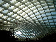 curved glass ceiling