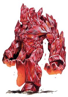 Golem- Cristal- Criatura- Fantacia