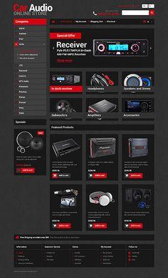 Car audio #OpenCart #webtemplate #themes #business #responsive #template