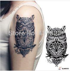Vintage Owl Tattoo Designs Aliexpress.com : buy temporary vintage owl ...