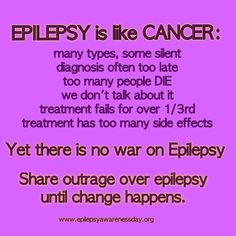 Exactly why we donated ALL the money we received as gifts from our wedding to epilepsy and cancer research.