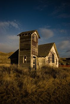ghost town church (abandoned) by bealluc, via Flickr