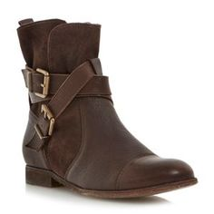 Dune Brown washed leather ankle boot- at Debenhams £99