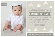 Baby Junge Taufe / Taufe-Einladung mit Foto von PAPERHEARTSbyJ