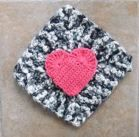 Heart on tweed by Linda M.  http://www.knit-a-square.com/