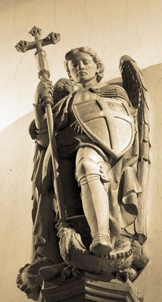 St Michael in the church of St John the Evangelist in Oxford, by Lawrence OP.