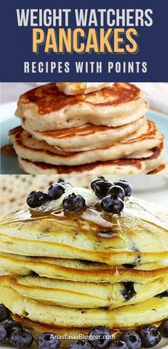 Best Weight Watchers Pancakes Recipes - Freestyle WW Pancakes with Smartpoints. Looking for best Weight Watchers Pancakes Recipes? I have a great collection of easy Freestyle WW Pancakes with Smartpoints. Weight Watchers Pancakes, Weight Watchers Breakfast, Weight Watcher Dinners, 100 Calories, Ww Recipes, Low Carb Recipes, Recipies, Pancake Healthy, Speed Up Metabolism