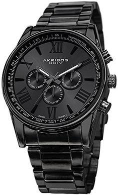 Akribos XXIV Men's AK736BK Ultimate Swiss Multifunction Black Stainless Steel Bracelet Watch Akribos XXIV http://www.amazon.com/dp/B00KA4UKJ2/ref=cm_sw_r_pi_dp_YZjEvb11PKWW0