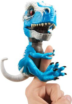 Untamed T-Rex by Fingerlings - Ironjaw (Blue) - Interactive Collectible Dinosaur - By WowWee: Toys & Games Dinosaur Crafts, Dinosaur Toys, Cute Dinosaur, Dinosaur Birthday, Unique Gifts For Kids, Kids Gifts, T Rex Toys, Imagine Nation, Wow Wee