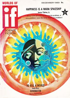 Worlds Of IF. Dec. 1969 Cover Art. Jack Gaughan
